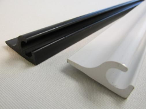 Plastic Awning Rail Black